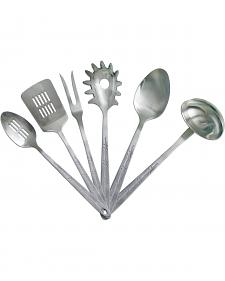 Moss Brothers 6-Piece Barbwire Stainless Steel Serving Set