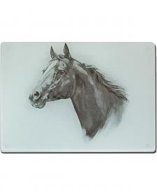 Moss Brothers Horse Head Glass Cutting Board