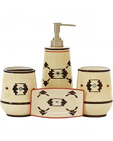 HiEnd Accent Cream Artesia Four-Piece Bathroom Set