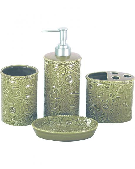 BA4001-OS-TP 4 PC SAVANNAH BATHROOM SET ,TAUPE