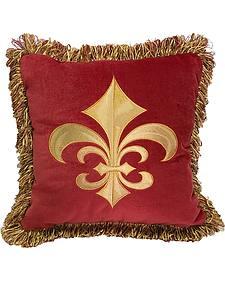 HiEnd Accents Multi Fleur De Lis Pillow