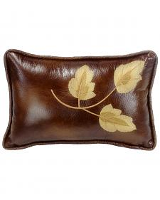 HiEnd Accents Highland Lodge Embroidered Leaf Pillow