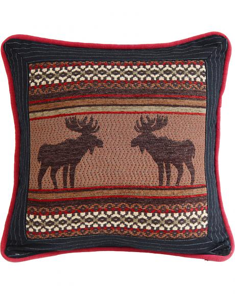 HiEnd Accents Bayfield Square Moose Pillow