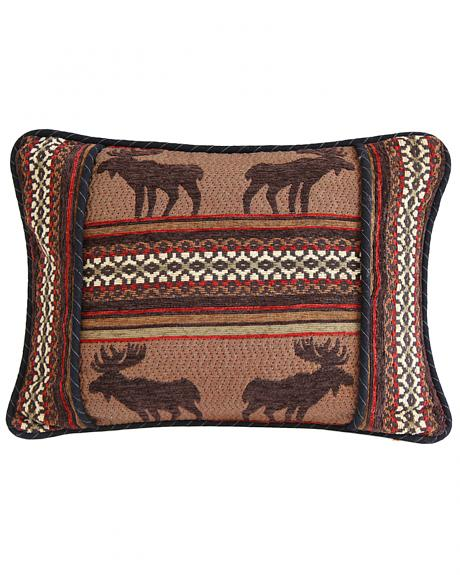 HiEnd Accents Bayfield Oblong Moose Pillow