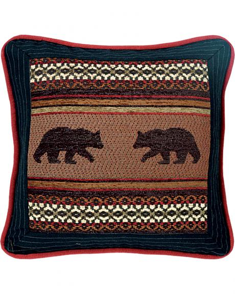 HiEnd Accents Bayfield Square Bear Pillow