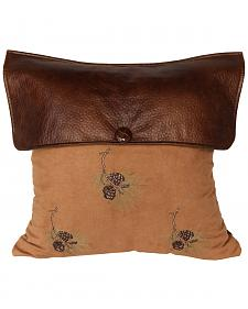 HiEnd Accents Lodge Pine Cone Pillow