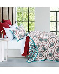 HiEnd Accents Multi Three Piece Sonora Quilt Set, Full/Queen
