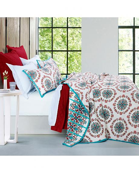 QW1007-KG-OC 3-PC SONORA QUILT SET, KING
