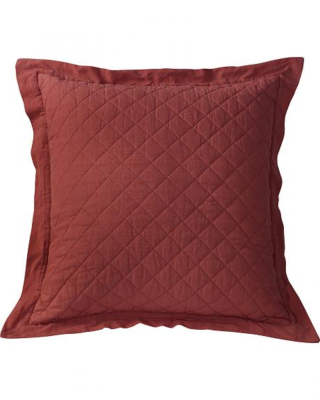 HiEnd Accents Diamond Pattern Quilted Red Euro Sham