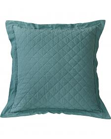 HiEnd Accents Diamond Pattern Quilted Turquoise Euro Sham