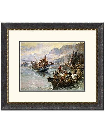 Charles M. Russell Lewis and Clark on the Lower Columbia Framed Digital Print Western & Country DPF-133234-1216-181