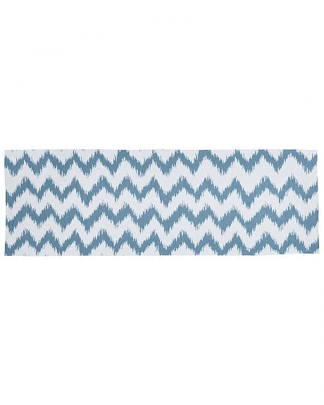 HiEnd Accents Catalina Chevron Print Super King Bed Runner
