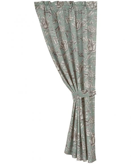FB4160C1 HEA FLORAL CURTAIN WITH TIEBACK, 48