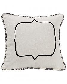 HiEnd Accents Augusta Matelasse Pillow with Embroidery Detail