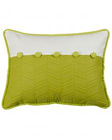 "HiEnd Accents Fern and Quilted Pillow, 16"" x 21"""