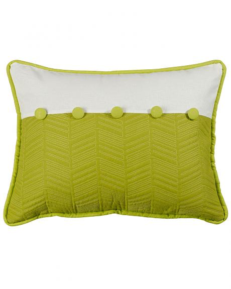 HiEnd Accents Fern and Quilted Pillow, 16