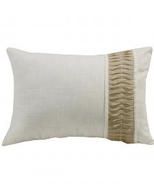 HiEnd Accents White Linen Pillow With Rouching Detail