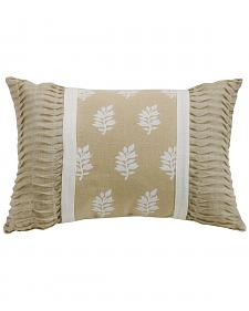 HiEnd Accents Cream Newport Oblong Pillow with Rouching Ends