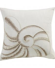 HiEnd Accents Newport Seashell Embroidery Pillow