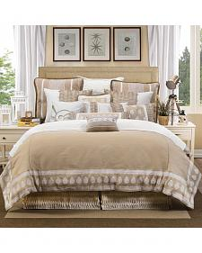 HiEnd Accents Cream Newport Duvet Cover Set - Queen