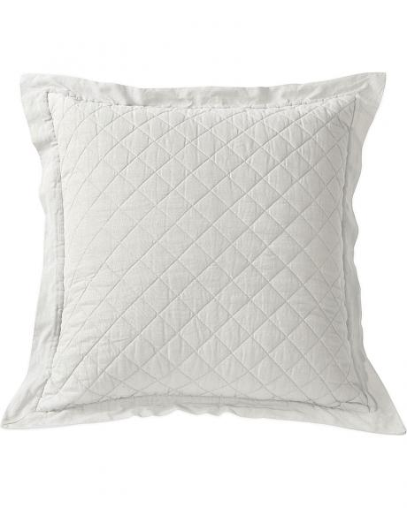 HiEnd Accents Diamond Pattern Quilted White Euro Sham