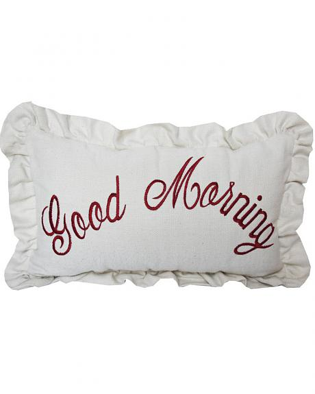 HiEnd Accents Good Morning Embroidered Pillow