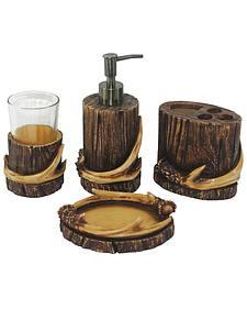 HiEnd Accent Brown Antler Four-Piece Bathroom Set