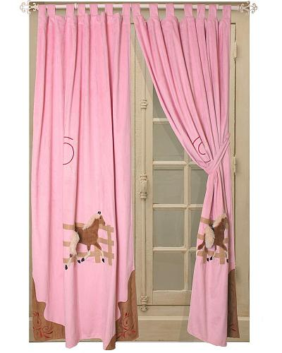 Carstens Light Pink Cowgirl Drapes Western & Country JCG-DR