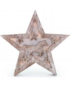 BB Ranch Wooden LED Star Lantern