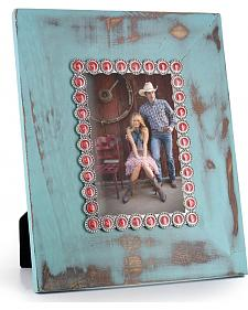 BB Ranch Distressed Turquoise Picture Frame