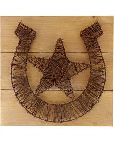 BB Ranch Rustic Horseshoe Wall Plaque