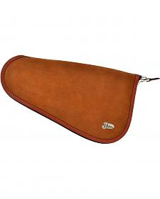 Justin Medium Brown Roughout Leather Pistol Case