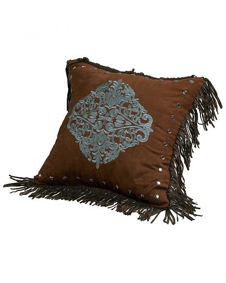 HiEnd Accents Bianca II Embroidered Tassle Pillow