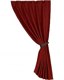 HiEnd Accents Red Suede Curtain