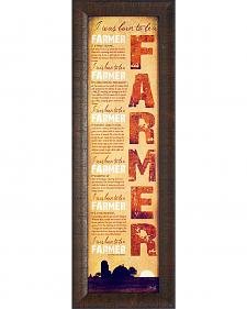 Born to be a Farmer Framed Print