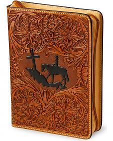 3D Cross Mountain Leather Bible Cover
