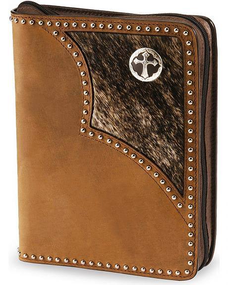 Hair On Hide Leather Bible Cover