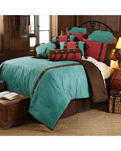 HiEnd Accents Cheyenne Floral Western Bed In A Bag Set - Full Size