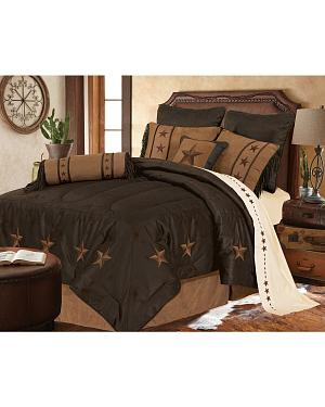 HiEnd Accents Laredo Star Embroidery Bed In A Bag Set - Queen Size