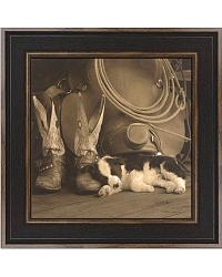 Cowboy Puppy Framed Artwork at Sheplers
