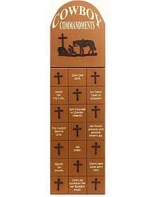 Cowboy Commandments Framed Artwork