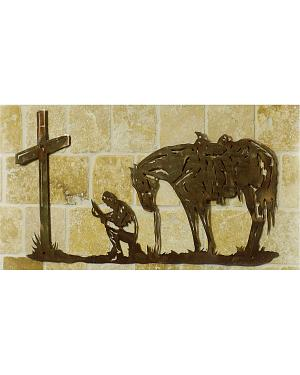 Cowboy Prayer Metal Wall Art