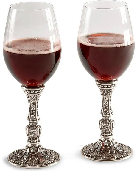 Silverado Pewter-tone Wine Glass Set