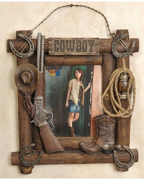 Cowboy Collage Picture Frame