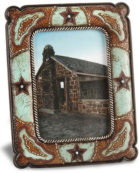 Star Embellished Tooled Photo Frame