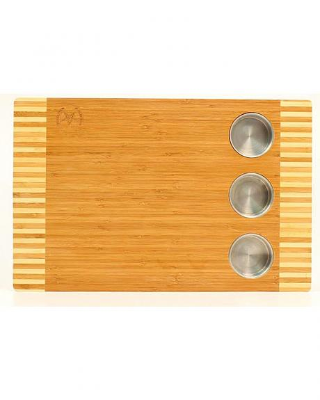 M&F Western Wooden Cutting Board with Holders
