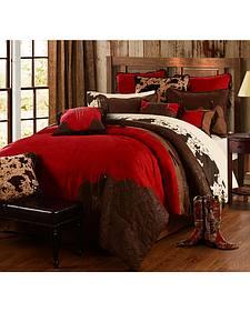 HiEnd Accents Red Rodeo Queen Comforter Set