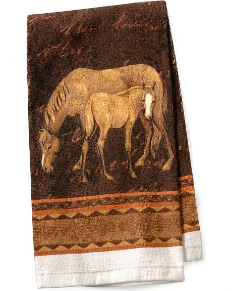 Mare & Foal Terry Kitchen Towel