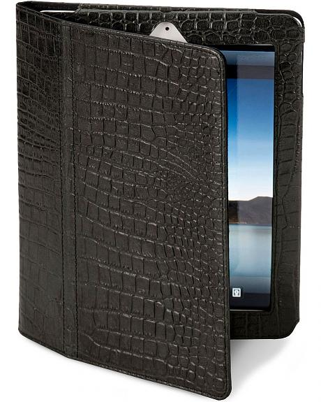 Croc Print Leather iPad Cover