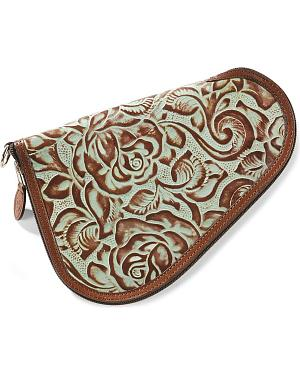 3D Small Floral Tooled Leather Pistol Case